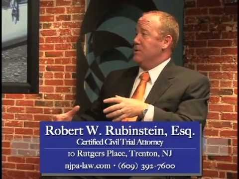 Automobile Personal Injury Cases - Interview w. Robert W. Rubinstein, Esq. of Trenton, NJ