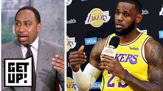 Stephen A. reacts to LeBron James saying Lakers won