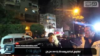 مصر العربية | لحظة وصول نادية الجندى ومحمد مختار عزاء محمد حسن رمزى