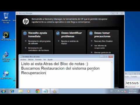 VideoTutorial de Como Restaurar mi mini Lap hp a condiciones de Fabrinca!