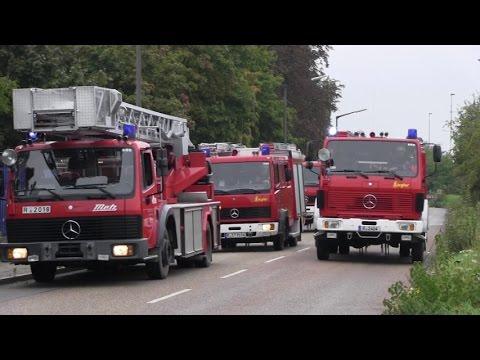 5 Feuerwehren, JUH und RHS Regensburg: Großübung Gasexplosion