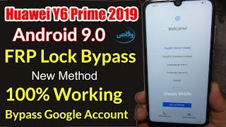 Huawei 9.0 FRP Unlock  Without PC | Huawei Y6 Prime 2019 mrd-lx1f Frp bypass by waqas mobile