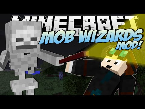 Minecraft | MOB WIZARDS MOD! (Zombie Mage, Skeleton Wizards & More!) | Mod Showcase