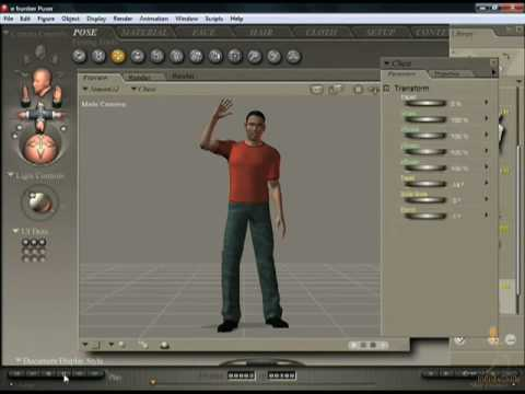 Poser 7 Tutorial - Animation Controls
