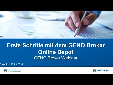 Webinar GENO Broker: Erste Schritte mit dem GENO Broker Online Depot