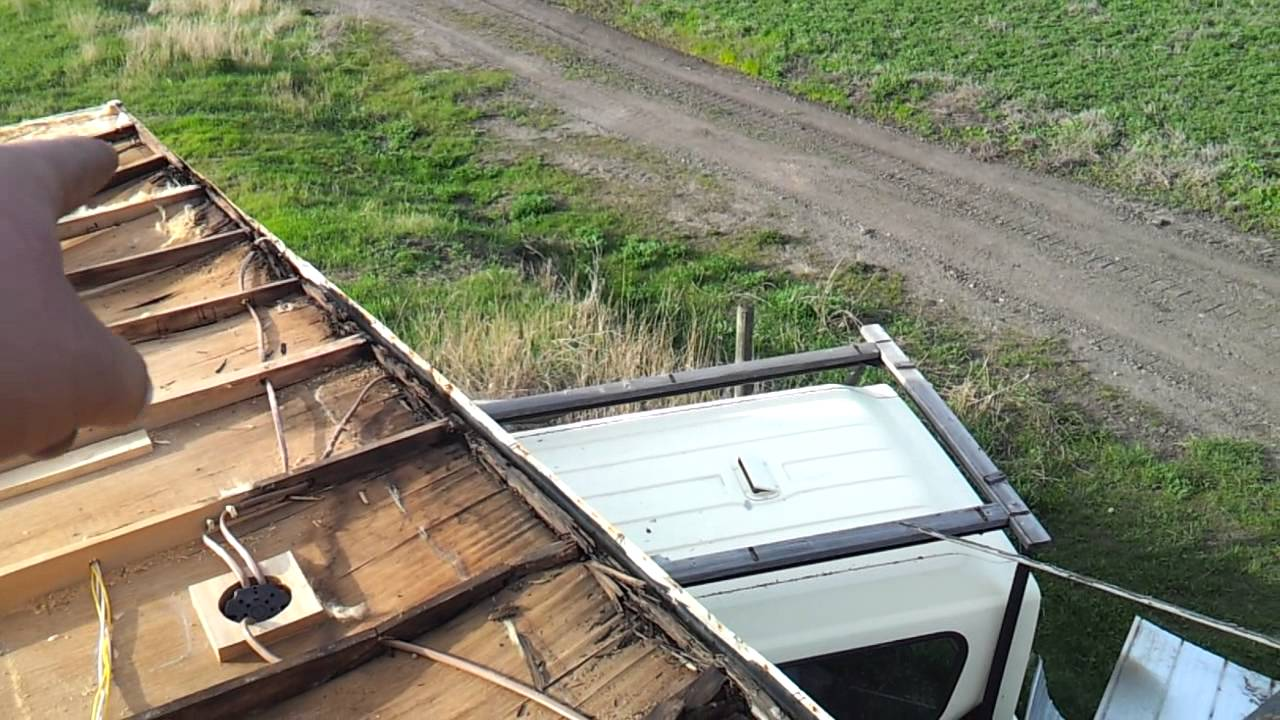 Rebuild 26 5 Foot Fifth Wheel Rotted Roof Part 2 Youtube
