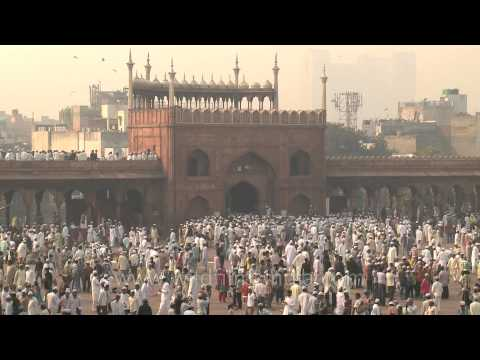 Muslim devotees gather for Eid al-Adha prayers at Jama masjid, New Delhi