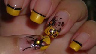 Nail Art - Wild Flower (Diseo de Uas - Flor Salvaje)