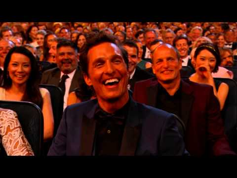 Kimmel Ribbing McConaughey Emmys 2014