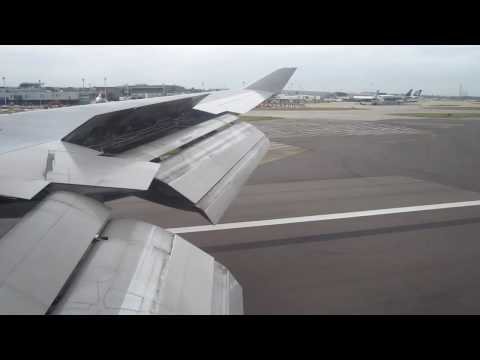Qantas 747-400 flight QS29 from Hong Kong HKG landing at Heathrow LHR runway 27L