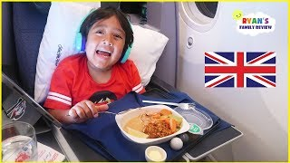 Ryan Going To London for the first time on Business Class Airplane Ride!!!