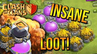 """INSANE LOOT"" - Town Hall 7 FARMING BASE (CoC TH7) BEST Base Layout 2015"