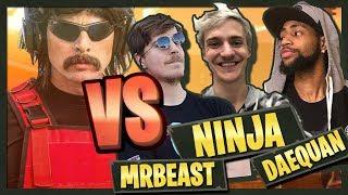 Dr DisRespect Versus Ninja, MrBeast, Daequan | Friday Fortnite Tournament /w Kraftyy