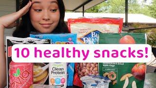 my top 10 healthy snacks!