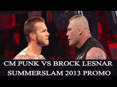 WWE Summerslam 2013 : CM Punk vs Brock Lesnar Match Promo ( WWE 13 Simulation )