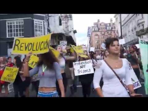Huge Protest in Support of Refugees in London, 12 September 2015