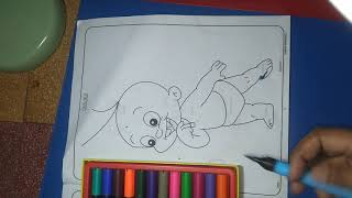 Chhota Bheem and Raju easy Colouring videos for kids baby