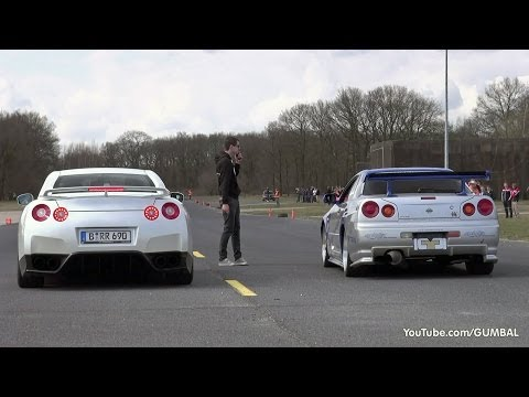 Nissan Skyline GT R34 Mines Stage 2 +++ vs Nissan GT-R Switzer P800 Music Videos