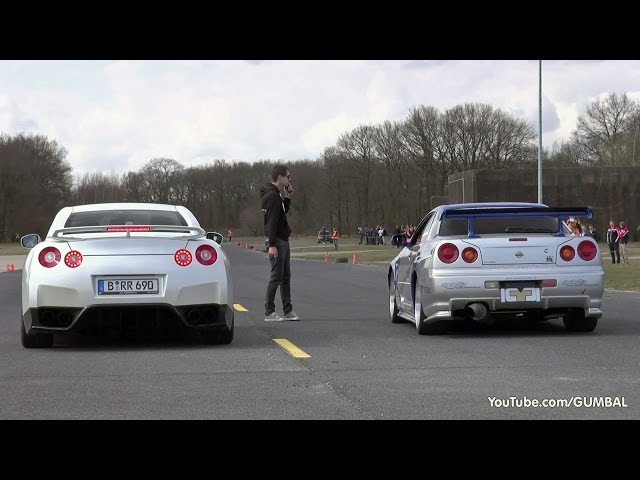 Nissan Skyline GT R34 Mines Stage 2 +++ vs ... - YouTube