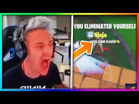8 Ninja Fails He Didn't Want You To See! (ʘ_ʘ) Fortnite Battle Royale