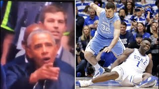 """Barack Obama pointing out the fact that Zion Williamson's """"shoe broke"""""""