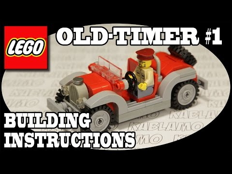 How To Build An Oldtimer Car Instructions For A Small Lego Toy