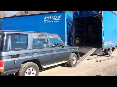 toyota landcruiser prado lj78 turbo diesel loading in truck for new life in poland how to make. Black Bedroom Furniture Sets. Home Design Ideas