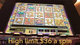 **CLEOPATRA** HIGH LIMIT - $36 a spin