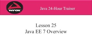 1. Wrox: Java EE Tutorial Overview