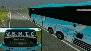 MSRTC Shivneri Multi Axle Volvo Bus Driving | Volvo B11R | Bus Simulator Indonesia | BUSSID