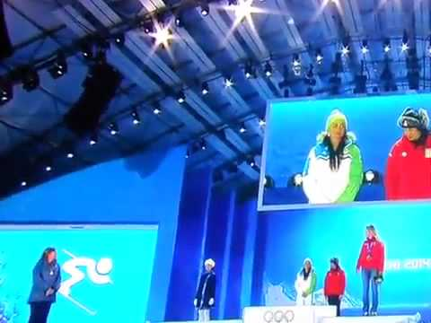 Sochi 2014 - Sochi 2014: Tina Maze received gold medal! 14.02.2014