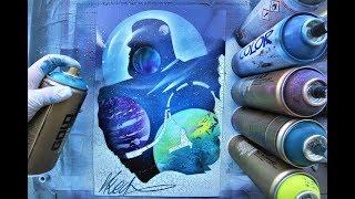 Buzz Lightyear (Toy Story)  - GLOW IN DARK - SPRAY PAINT ART - by Skech