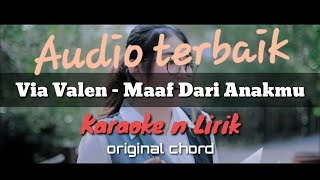 Maaf Dari Anakmu ( karaoke n Lirik ) Via Valen