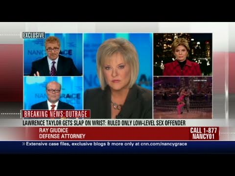 Nancy Grace is outraged that a New York judge is classifying Lawrence Taylor ...