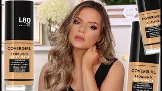 NEW COVERGIRL TRUBLEND MATTE MADE FOUNDATION! HIT OR HOT MESS? WEAR TEST!   Casey Holmes