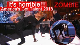 It's horrible!!! America's Got Talent 2018 Zombie #america'sgottalent 2018