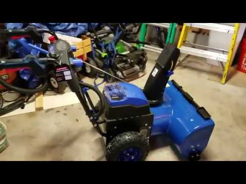 All Electric Battery Operated 2-Stage Snow Joe Snow Blower Review plus Single Stage