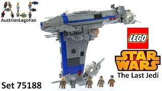 Lego Star Wars The Last Jedi 75188 Resistance Bomber - Lego Speed Build Review