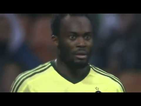 Michael Essien's reaction to being sent off is priceles