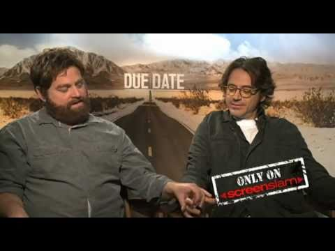 Robert Downey Jr. and Zach Galifianakis funny DUE DATE Interview