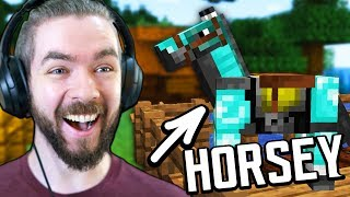 Putting DIAMOND Armor On My New Horse In Minecraft - Part 6