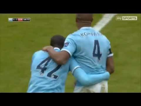 Yaya Toure's Wonder Strike vs Sunderland | Capital One Cup Final