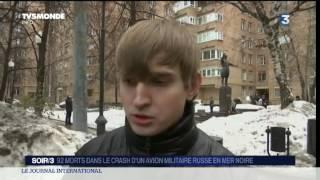 92 morts ans le crash d'un avion militaire russe en mer noire