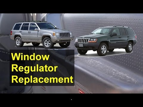 Window regulator and motor removal. replacement. Jeep Grand Cherokee - Auto Repair Series