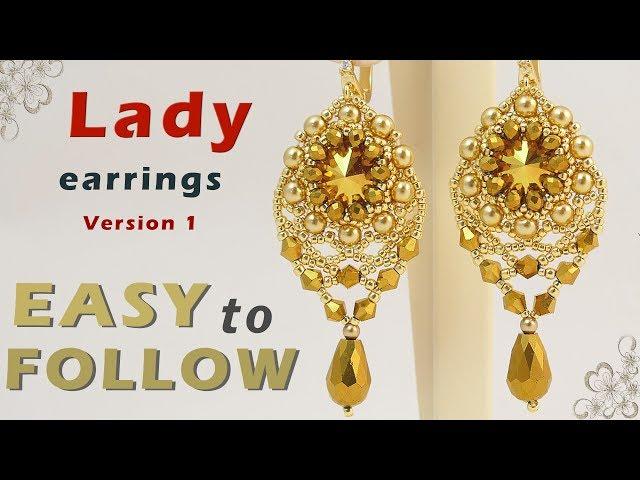 Handmade earrings beading tutorial