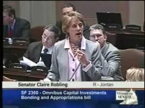Senator Robling speaks out against the bonding bill
