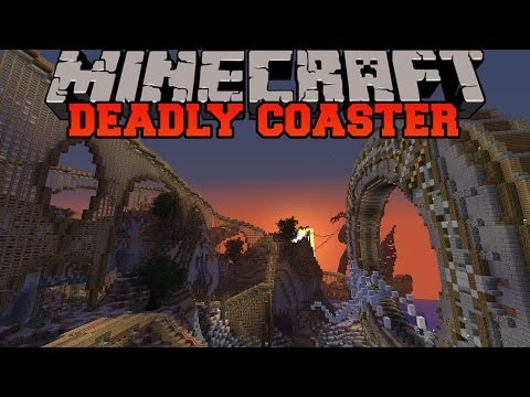 Minecraft: DEADLY ROLLER COASTER (Roller Coaster Adventure with story!) Build Showcase
