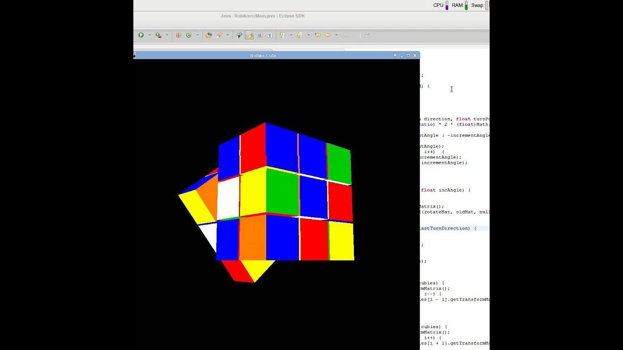 Cube Code Opengl Rubik's Cube in Opengl