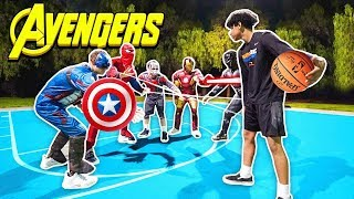 Avengers Play Basketball vs Strangers!