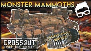 Crossout -- Monster Truck Big Foot Mammoth Humpback Heavy Build